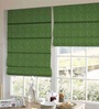 Presto Green Polyester Striped Window Blind