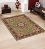 Presto Green Polypropylene 60 x 36 Inch Traditional Area Rug