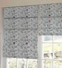Presto Multicolour Floral Tissue Embroidered Window Blind
