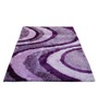 Presto Purple And Pink Polyester Abstract Shaggy Area Rug