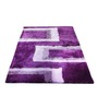 Presto Purple And Pink Polyester Geometrical Shaggy Area Rug