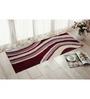 Presto Red & Ivory Polyester 55 x 22 Inch Abstract Bedside Runner