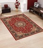 Presto Red Polypropylene 60 x 36 Inch Traditional Area Rug