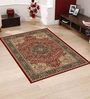 Presto Red Polypropylene Traditional Area Rug