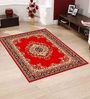 Presto Red Polyester Traditional Area Rug