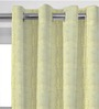 Presto Silver & Gold Polyester 84 x 46 Inch Abstract Door Curtain - Set of 2