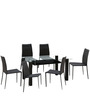 Presto Six Seater Dining Set in Dark Brown Colour by HomeTown