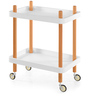 Prima Serving Cart in White Colour by @ Home