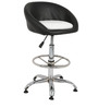 Prince Bar Chair in Black and White Color by The Furniture Store