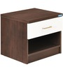 Prince Side Table in White & Wenge Colour by Nilkamal