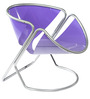 Pringles Chair in Lavender Colour by Tube Style