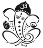 Print Mantras Beautiful Black God Ganesha PVC Wall Sticker