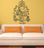 Print Mantras Large Beautiful Black God Ganesha PVC Wall Sticker