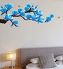Print Mantras PVC Wall Stickers Beautiful Artistic Flowers Branches and Butterflies 3D look