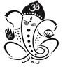 Print Mantras PVC Wall Stickers Beautiful Black God Ganesha
