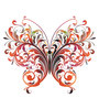 Print Mantras PVC Wall Stickers Beautiful Floral Big Butterfly