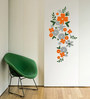 Print Mantras PVC Wall Stickers Beautiful Flowers Floral Design