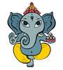 Print Mantras PVC Wall Stickers Beautiful God Ganesha