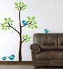 Print Mantras PVC Wall Stickers Green Tree Blue Birds