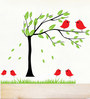 Print Mantras PVC Wall Stickers Wall Decals Beautiful Tree and Birds
