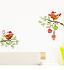 Print Mantras PVC Wall Stickers Wall Decals Tree Branches Swinging Love Birds