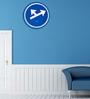PT Blue Steel 11.5 Inch Round Whichway Wall Clock