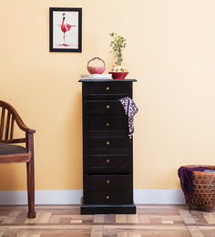 Glendale Sheesham Wood Chest Of Drawers in Espresso Walnut Finish by Woodsworth