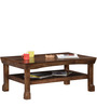 Grover Slatted Shelf Coffee Table in Provincial Teak Finish by Woodsworth