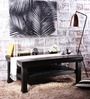 Morton Slatted Shelf Coffee Table in Espresso Walnut Finish by Woodsworth