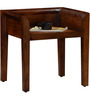 Oakland Contemporary Stool in Provincial Teak finish by Woodsworth