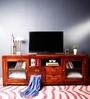 Mabton Entertainment Unit in Honey Oak Finish by Woodsworth