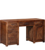 Dover Solid Wood Computer Table in Provincial Teak Finish by Woodsworth