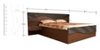 Queen Bed with Storage & Side Tables in Dark Brown Colour by Parin