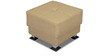 Quest RHS Sofa Set with Two Pouffes in Beige Colour by Home City