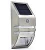 Quace Solar Silver Wall Light with Motion Sensor