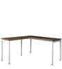 Quantum Executive Table in Chocolate Sawline & White Colour by Crystal Furnitech