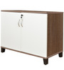Quantum Low Height Storage in Chocolate & Lily Color by Crystal Furnitech