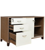 Quantum Storage Cabinet in Chocolate & Lily Color by Crystal Furnitech