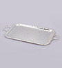 Queen Anne Oblong Silver Metal Serving Tray