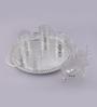 Queen Anne Silver Plated Glass 8-piece Tea Set