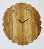 Questa Handmade Wall Clock in Brown by Bohemiana