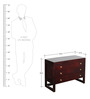 Rochester Solid Wood Chest of Drawers in Passion Mahogany Finish by Woodsworth