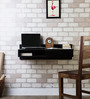 Freemont Solid Wood Wall Mount Study cum Laptop Table in Espresso Walnut Finish by Woodsworth