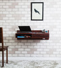 Freemont Solid Wood Wall Mount Study cum Laptop Table in Honey Oak Finish by Woodsworth