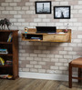Freemont Study & Laptop Table in Natural Mango Wood Finish by Woodsworth