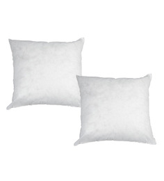 R Home White Polyester 26 X 26 Inch Cushion Inserts - Set Of 2