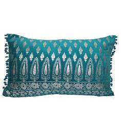 R Home Blue Cotton 20 X 12 Inch Cushion Cover