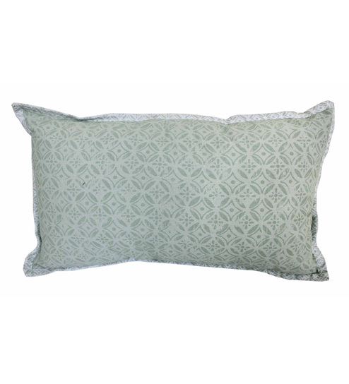 R Home Cream Cotton 12 X 20 Inch Indian Ethnic Cushion Cover - Set Of 2