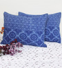 R Home Blue Cotton 21 x 28 Pillow Cover - Set of 2