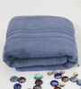 R Home Blue Terry Cotton 30 x 55 Bath Towel